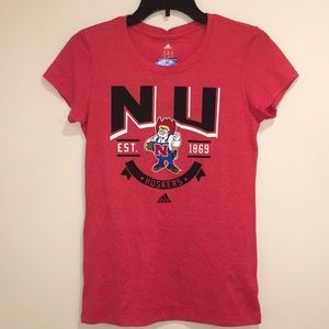 Nebraska Cornhuskers Heather Cap Sleeve Tee NWT M